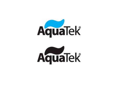 Логотип AquaTek photoshop logo illustrator devident dev design
