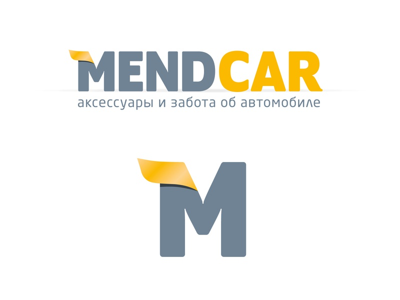 Logo Mendcar logotype dev devident design photoshop illustrator mendcar logo
