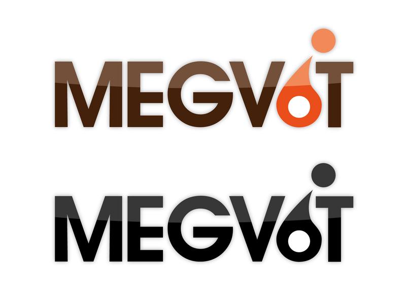 Логотип Megvit label logo illustration branding vector dev devident design photoshop illustrator