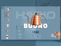 Coffee brew website design