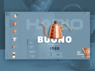 Coffee Brewer Website Design site hario kettle ui website brewer coffee