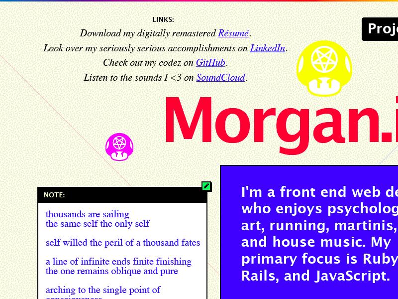 Dumb stuff red pink gradient icon lucida grande web times yellow blue purple interface