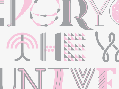 Pink and grey pink grey typography geometry swash lettering