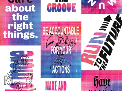 Grover Values Posters grover print type poster