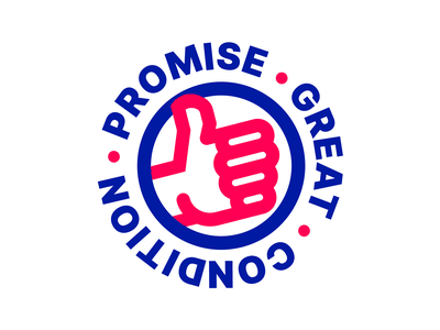 Great Condition Promise logo great illustration logo