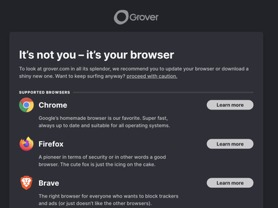 Unsupported Browser browser ui web