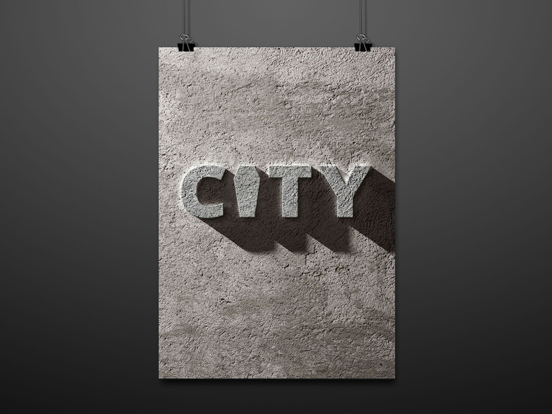 "City Aesthetic ""Concrete"" (Honorable Mention) poster exhibition poster contest contest posterart illustration poster graphic design graphic digital illustration digitalart design art concrete mention city"