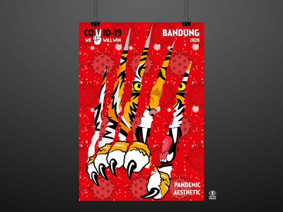 Pandemic Esthetic poster illustration graphic graphic design digital illustration digitalart design art tiger covid19 covid pandemic indonesia