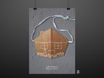 DIGNAVIDAD Poster Exhibitions poster design poster illustration graphic graphic design digital illustration digitalart design art christmass homeless