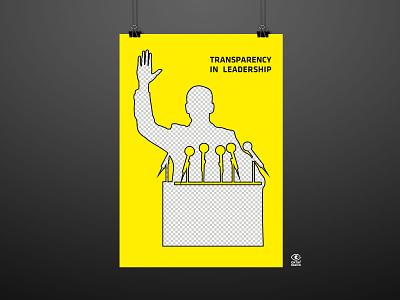 GRANDE FESTIVAL 2020 Transparency in Leadership poster design poster illustration graphic graphic design digital illustration digitalart design art leadership transparent