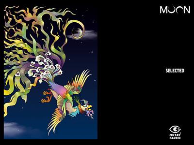 The Colors Of The Moon colors phoenix anka simurgh illustration graphic graphic design digital illustration digitalart design art