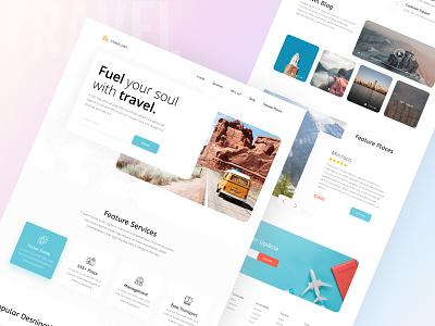 Travel Agency Landing Page uiux travel agency web design ui homepage design branding landing page ui landing page design landing page hellodribbble