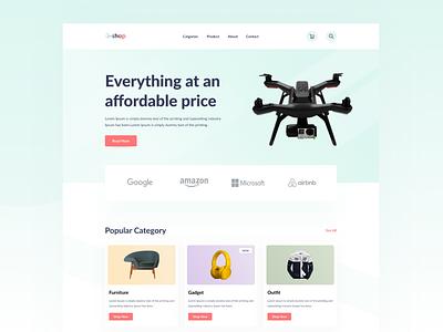 E-Commerce Landing Page Header.