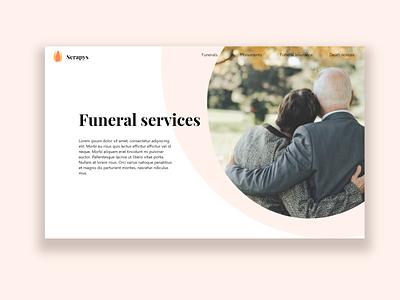 Serapys - Fictional funeral director funeral brochure digital funeral funeral memorial service funeral branding design webdesigner webdesign