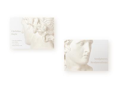 Carte de visite - Artiste sculpteur et restaurateur design visiting card design visitingcard visit card artist