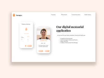 Serapys - Fictional funeral director App branding design app design app webdesigner application application design funeral funeral brochure funeral memorial service