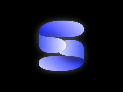 Material logo - S typography s webdesign ui application design vector illustration design branding app design logo