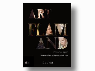 Flemish painting Exhibition - Louvre exhibition poster grahic design graphic design vector logo illustration branding posters poster art poster design exhibition poster louvre