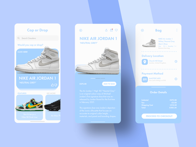 The Online Store design adobexd nike app design android iphone sneakerhead mobile app