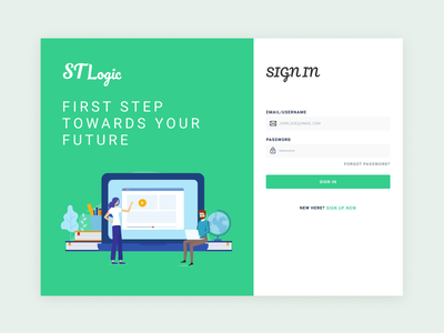 St logic illustration graphic uiux ui web app design