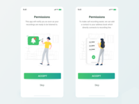 Mimik (Permission Pages) illustration iphone ios ux ui graphic app design