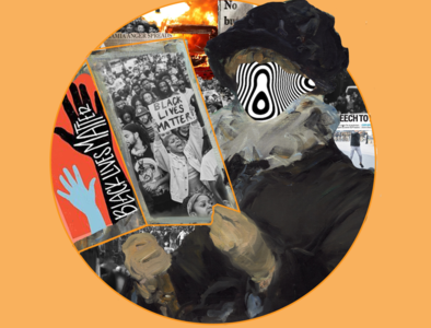Protest Vs Protest photoshop blacklivesmatter protest photoshop art collageart