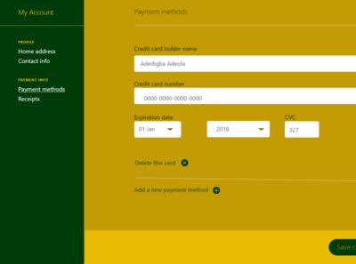 Creditcard Checkout dailyui login page branding
