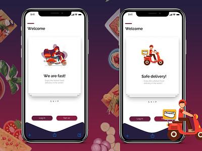 Food App - Walk Through Screens ux app ui design