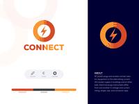 Connect Logo Design.Logo Design For Electrical instrument