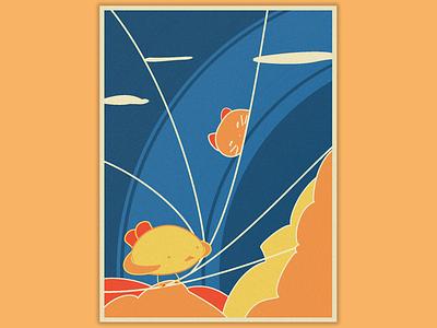 birdy poster colors poster artwork drawingart drawing illustrator bird design illustration graphism