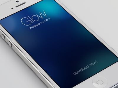 iOS 7 Wallpaper - Glow glow ios 7 ios7 wallpaper iphone