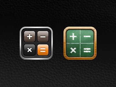Kiwi - Calculator kiwi iphone theme icon calculator button leather texture glyph