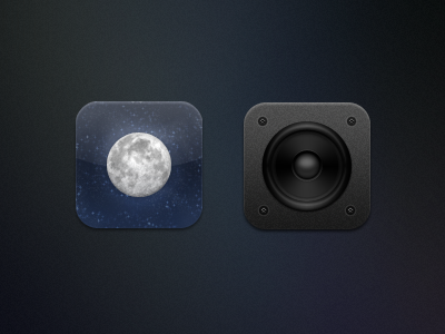 Kiwi - Weather & Music kiwi iphone theme icon weather moon speaker music ipod
