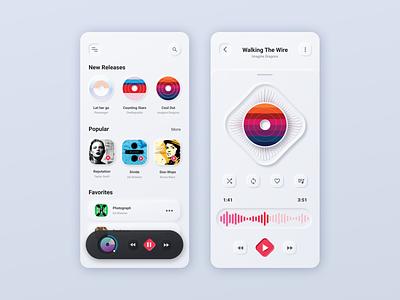 Music App - Neumorphism Redesign music neomorphism neumorphism app ui