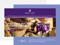 Roast and Post e-commerce website redesign