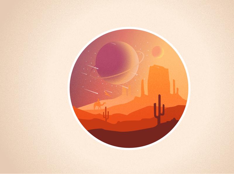 Planet Desert effects ui illustration galaxy desert planet