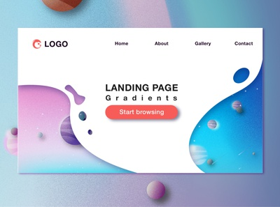 Landing Page web icon flat branding ui color temple illustrator illustration landingpage design
