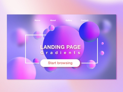 Gradient Landing Page vector icon web app color illustration ui temple illustrator gradient design