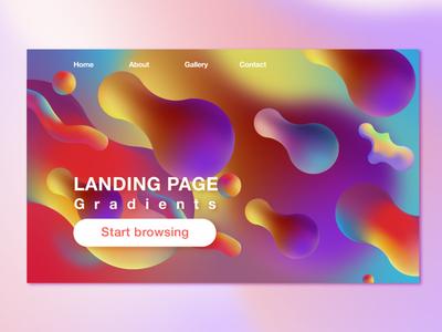 Gradient Landing Page website ux gradient design app web icon illustration ui logo vector