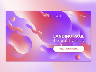 Gradient Landing Page illustration icon gradient web app branding color ui logo vector design