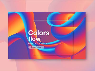 BANNER GRADIENT FLOW poster design temple color illustration web ui icon ux vector design banner
