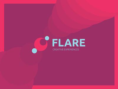 Flare logo icon design graphic lens agency creative branding flare