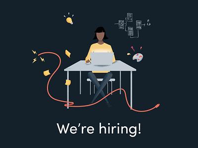 Inktrap Hiring mid-weight illustration product design ui ux hiring designer jobs new job work job designer