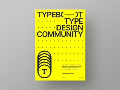 Type.bot poster design typebot clean typographic minimal typedesign poster typography betraydan