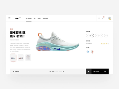 Nike Joyride design website typography sneakers layout ux clean nike simple animation interaction ui web betraydan