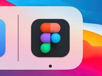 Figma App Icon macos logo clean design texture minimal icon app bigsur c4d betraydan