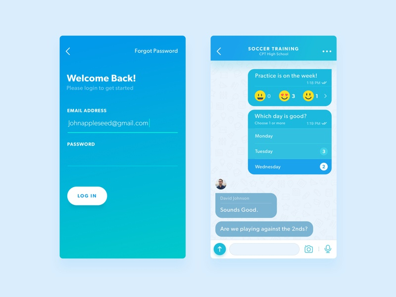 Poll Messenger Ui By Daniel Klopper Dribbble
