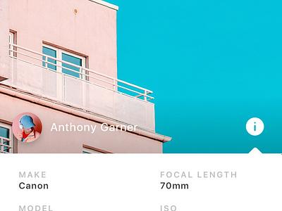 Metadata + Analytics clean analytics photography minimal unsplash ux ui app betraydan