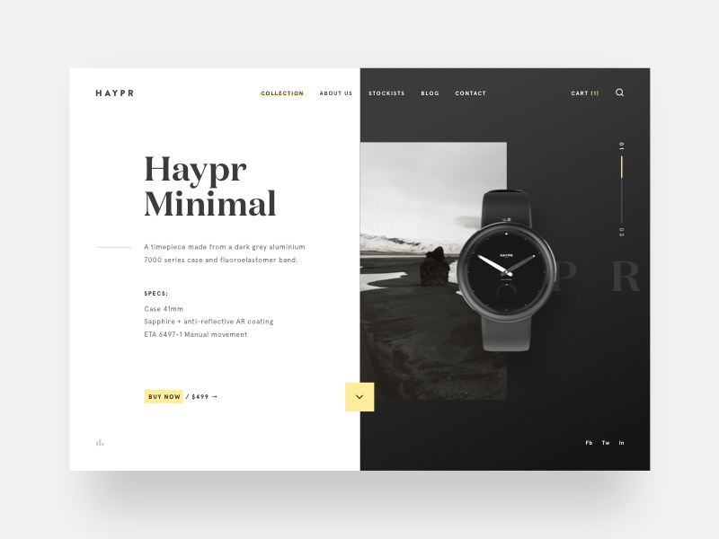 Haypr haypr clean photography minimal watch web ux ui app betraydan