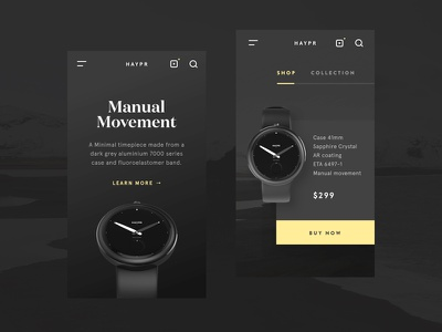 Haypr mobile betraydan app ui ux mobile watch minimal photography clean haypr